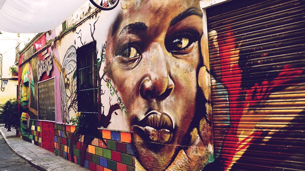 Grafiiti in Calle Huerto del Conde, Malaga