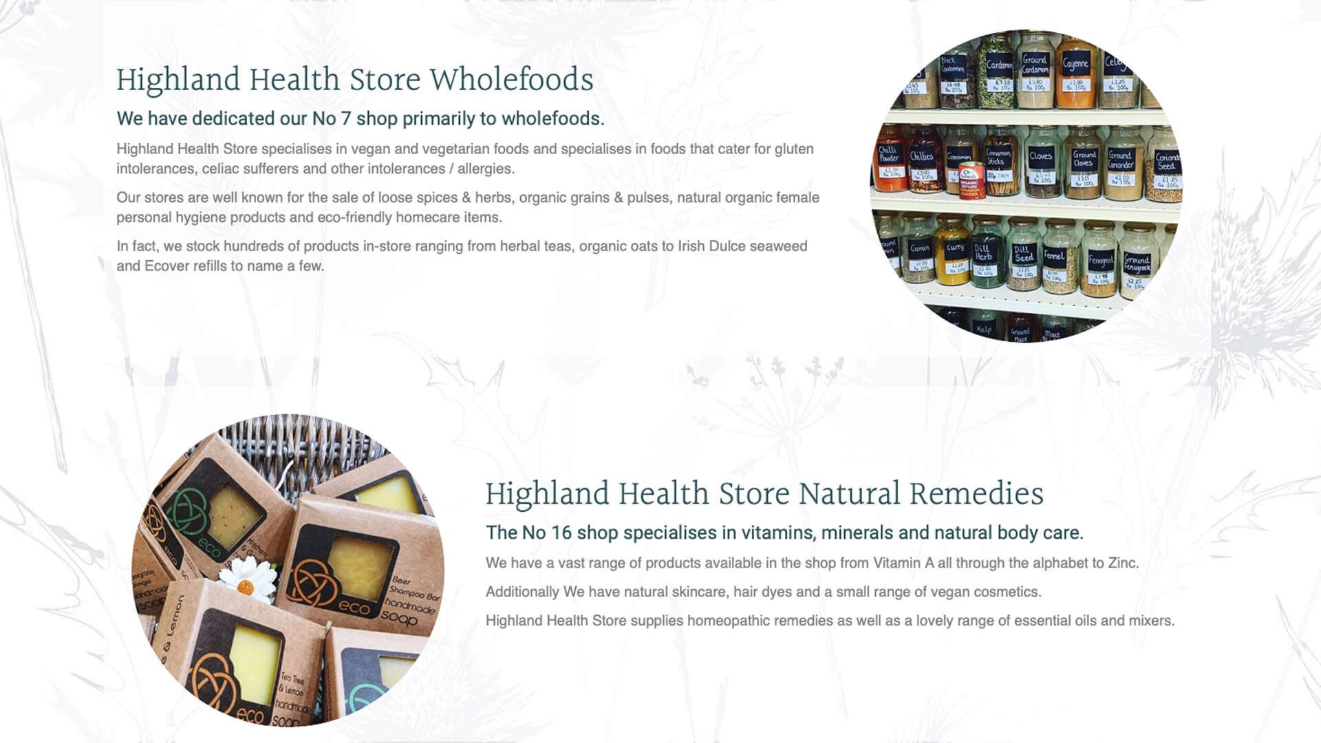 Highland Health Store About